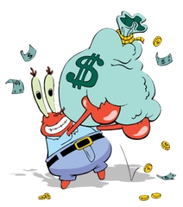 Mr._Krabs'_Love_of_Money