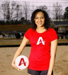 Javon Gates, sophomore volleyball player and President of Upstate Athlete Ally.