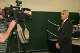 Local media interview Freire about his position at USCU.